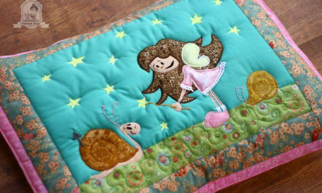 Tündérek – applikált patchwork párnák