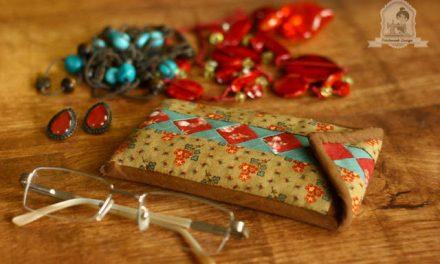 Patchwork kezdőknek: Seminol mintás patchwork szemüveg tok